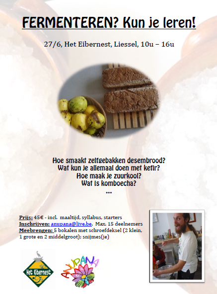 Fermenteren kun je leren Workshop Eibernest